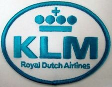 13388 KLM ROYAL DUTCH AIRLINES IRON ON CLOTH PATCH APPLIQUE SEWING