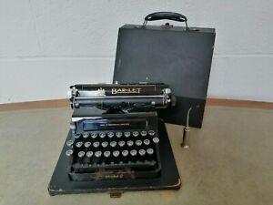 Bar-Let Model 2 Vintage Portable Typewriter 1930s Incl Oil applicator & Case