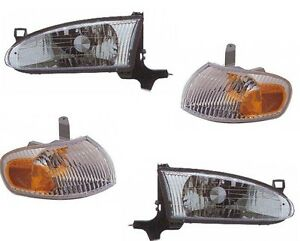 FITS FOR 1998 - 2002 CHEVY PRIZM HEADLIGHT CORNER LAMPS LEFT & RIGHT SET