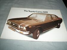 Toyota Carina 1600 brochure c1976