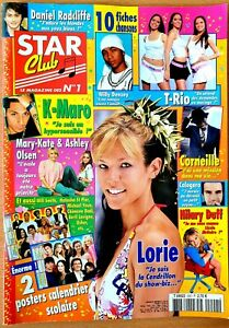 STAR CLUB N°202 (09/2004) : FICHES + POSTER CALENDRIER 2004-05 * LORIE * [TBE]