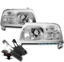 FOR 99-03 SUZUKI GRAND VITARA/02 XL-7 CRYSTAL HEADLIGHT LAMP CHROME W/50W 8K HID