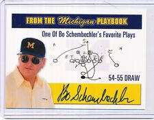 TK LEGACY MICHIGAN AUTOGRAPH BO SCHEMBECHLER 25/250 MP1
