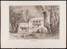 1880 - Gravure Hacienda de la Constancia (Canal du Panama, Darien)
