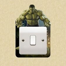 Hulk Marvel Avengers Light Switch Surround Sticker Cover Vinyl Kids Bedroom