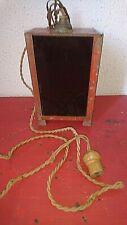 ANCIENNE LAMPE POUR DEVELOPER PHOTO FRERE LUMIERE 1930 VITRE ROUGE LAMPE NOIR