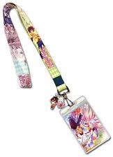 **Legit** No Game No Life Sora & Shiro Badge ID Holder Authentic Lanyard #37655