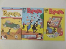 3x POPEYE Comic # 1  2  5 ~ ALL NEW STORIES ~ IDW 2012 Wimpy The JEEP Sea Hag