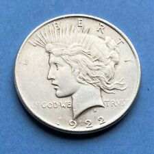 More details for 1922 $1.00 90% silver dollar (morgan or peace