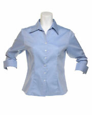 Women's Collared No Pattern Semi Fitted Business Tops & Shirts