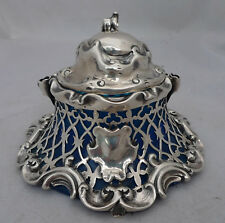 Victorian Silver Inkwell Charles Thomas & George Fox London 1843 A602017