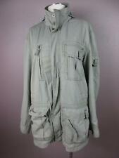 Tommy Bahama Size M Gray Mens Hooded Cotton Front Pockets Outerwear Jacket 627