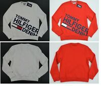 NWT Men's Tommy Hilfiger Denim Crew Neck Pullover Sweater  Sweatshirt