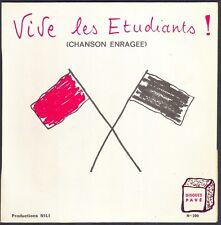 VIVE LES ETUDIANTS Chanson enragée SIMON SAGUY RARE 45T EP Disque Pavé NEUF MINT