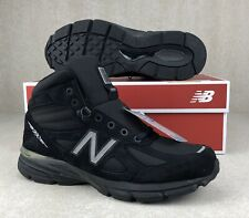 Made In USA New Balance 990v4 Black Mid New Boots Shoes Mens Size 10.5 MO990BK4