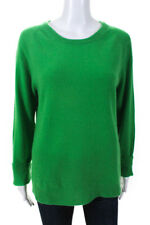 Equipment Femme Women's Crew Neck Sweater Cashmere Green Size Large