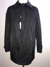 NWT $995 Armani Collezioni Water Repellent Trench Coat Black 44R US (54R Eu)