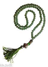 Bellissima Collana Mala 108+1 in giada verde  - India