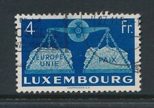 LUXEMBOURG 1951 UNITED EUROPE 4F FINE USED SG548...cv £60