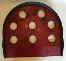 Heavy Metal Carnival Skee Ball Game Vintage Red Blue Tin Toy Mid-Century Modern