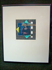 """Street Contemporary Collage Art """"Between The Lines"""" Undated Framed w Glass 10x12"""