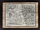 PABLO PICASSO DRAWING ON PAPER SIGNED & STAMPED HAND CARVED