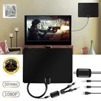 Mini Antenne TNT HD Intérieur Antenne Puissante 1080p full HD 50Ms Portable TV