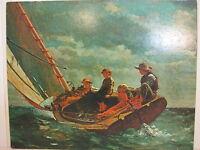 "Vintage Winslow Homer Breezing Up Print On Board, 20"" X 16"""