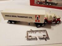 Arnold Bros Transport LTD 40-feet Semi Tractor Trailer HO scale Herpa