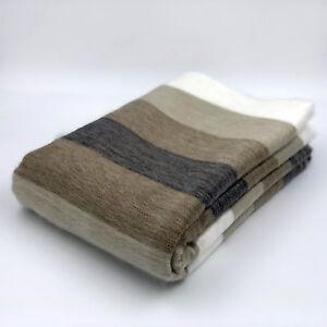 "SOFT & WARM ALPACA LLAMA WOOL BLANKET BED SOFA COUCH COVER QUEEN THROW 90""x65"""