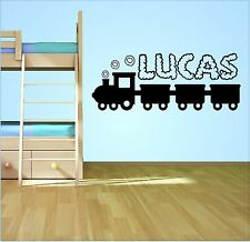 PERSONALISED NAME TRAIN WALL ART STICKER DECAL BOYS BEDROOM CHILDRENS DECOR