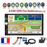 """7"""" 2DIN GPS Navi Autoradio MP5 Bluetooth Écran tactile Stéréo Lien miroir+Caméra"""