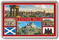 FRIDGE MAGNET - EDINBURGH - Large - Scotland TOURIST