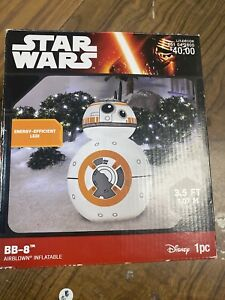 Disney Star Wars BB-8 Airblown Inflatable 3.5ft LED Blow Up Christmas Decoration