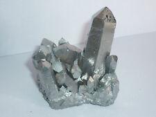 cristalloterapia DRUSA AQUA AURA ARGENTO A+ BOX quarzo cristallo roccia minerale