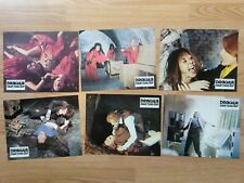 HAMMER - SATANIC RITES OF DRACULA  6 German lobby cards CUSHING Christopher Lee