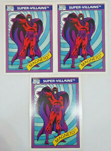 1990 - Impel Marvel Magneto #63 - LOT of 3 Cards - Great Condition!