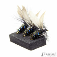 3, 6 or 12x Blue Bottle Dry Trout Flies for Fly Fishing