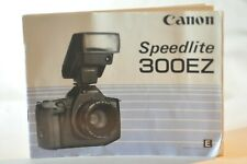 Canon 300EZ 430EZ Speedlite Flash instruction manual original vintage