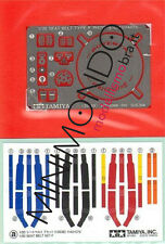 SET CINTURE E FOTOINCISIONI DETAIL-UP PARTS 1/20 SEAT BELT SET A TAMIYA 12637