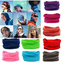 Solid Cotton Tube Scarf Bandana Head Face Mask Neck Gaiter Snood Headwear Beanie