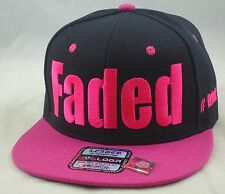 NEW FADED #DRINK SNAPBACK HIP HOP CAP HAT BLACK/PINK