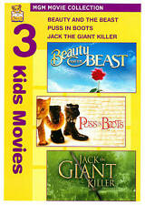 Beauty and the Beast/Puss in Boots/Jack the Giant Killer (DVD Audio, 2010,...