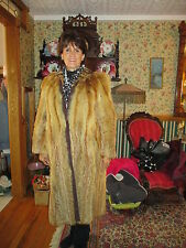 Vintage 1950's Red Fox Fur Coat full length Stuttgart Germany