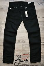 DIESEL DARRON 008QU 8QU NEW TAPERED MAN / MENS JEANS BLACK 3D CREASED SIZES L32