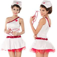 Sexy Krankenschwester Minikleid Kostüm Karneval Fasching Fastnacht Nurse 34-38