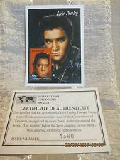 Elvis Presley Mint Postage Stamp Issued by Tanzania with COA #4380