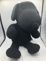 Large Official KAWS Peanuts UNIQLO Black Snoopy Dog Plush Stuffed Toy Animal