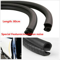 2 pcs B Pillar Car Door Seal Rubber Sealing Strips Rear Edge Trim Windproof