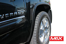 FTCH804 07-13 Chevy Silverado 1500/2500 Matte Black Stainless Steel Fender Trim